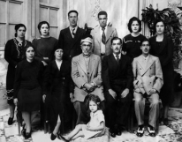 Photo of the Jabri Family. Arab Muslim family in Damascus