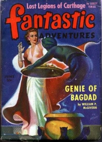 Fantastic Adventures, Genie of Bagdad, pulp fiction novel