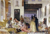 Paiting of Rupert Bunny. The Harem.