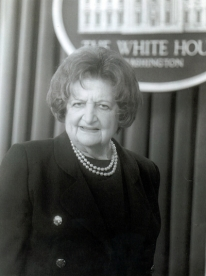 Photo of Helen Thomas in the White House