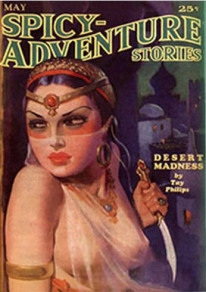 Photo of Spicy-Adventure Stories pulp fiction magazine cover