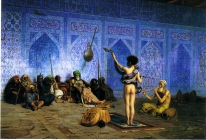 Image of painting Jean-Leon Gerome (French, 1824-1904) The Snake Charmer. 1880.