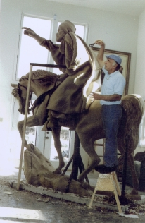 Dr. Hussam A. Fadhli  in his studio