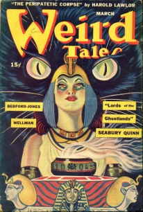 Image of Weird Tales pulp fiction novel cover