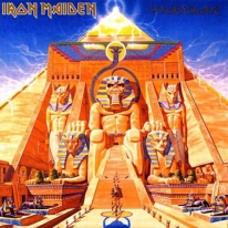 "Image of  ""Powerslave"" Iron Maiden album cover"
