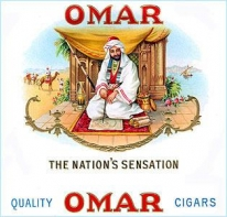 Image of an advertisement for Omar Cigars
