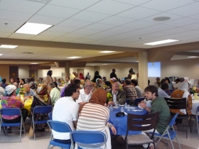 Over 100 Muslims and Christians gather for an Iftar dinner in Grand Rapids in August 2011.